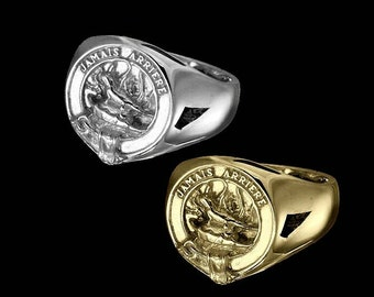 Clan Douglas Crest Men's Signet Ring (Free Express Courier Shipping)