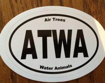 ATWA Vinyl oval sticker - Manson