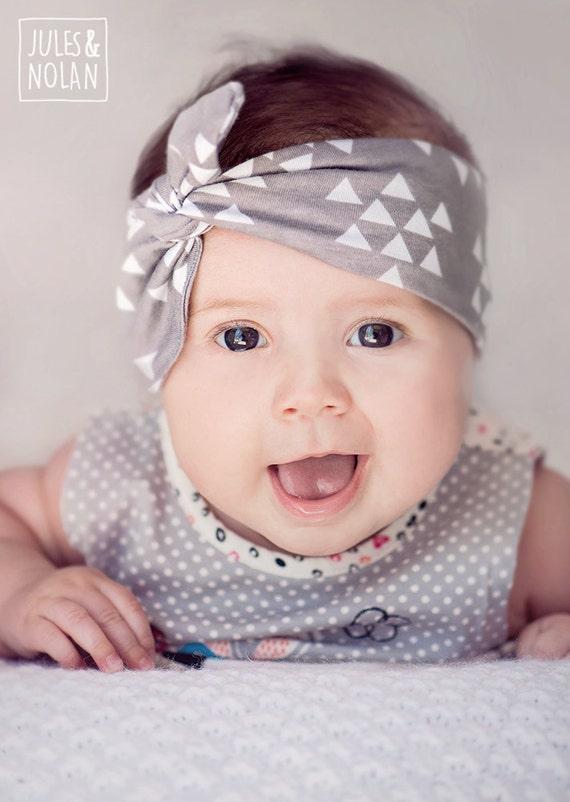 Bandeau noeud ajustable cadeau b b headband bleu - Bandeau noeud bebe ...