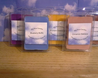 2 ounce ClamShell Soy/Paraffin Blend Wax Tart Scent List 2