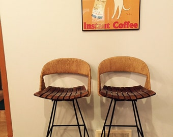 Vintage Umanoff Swivel Barstools in Near Mint Condition