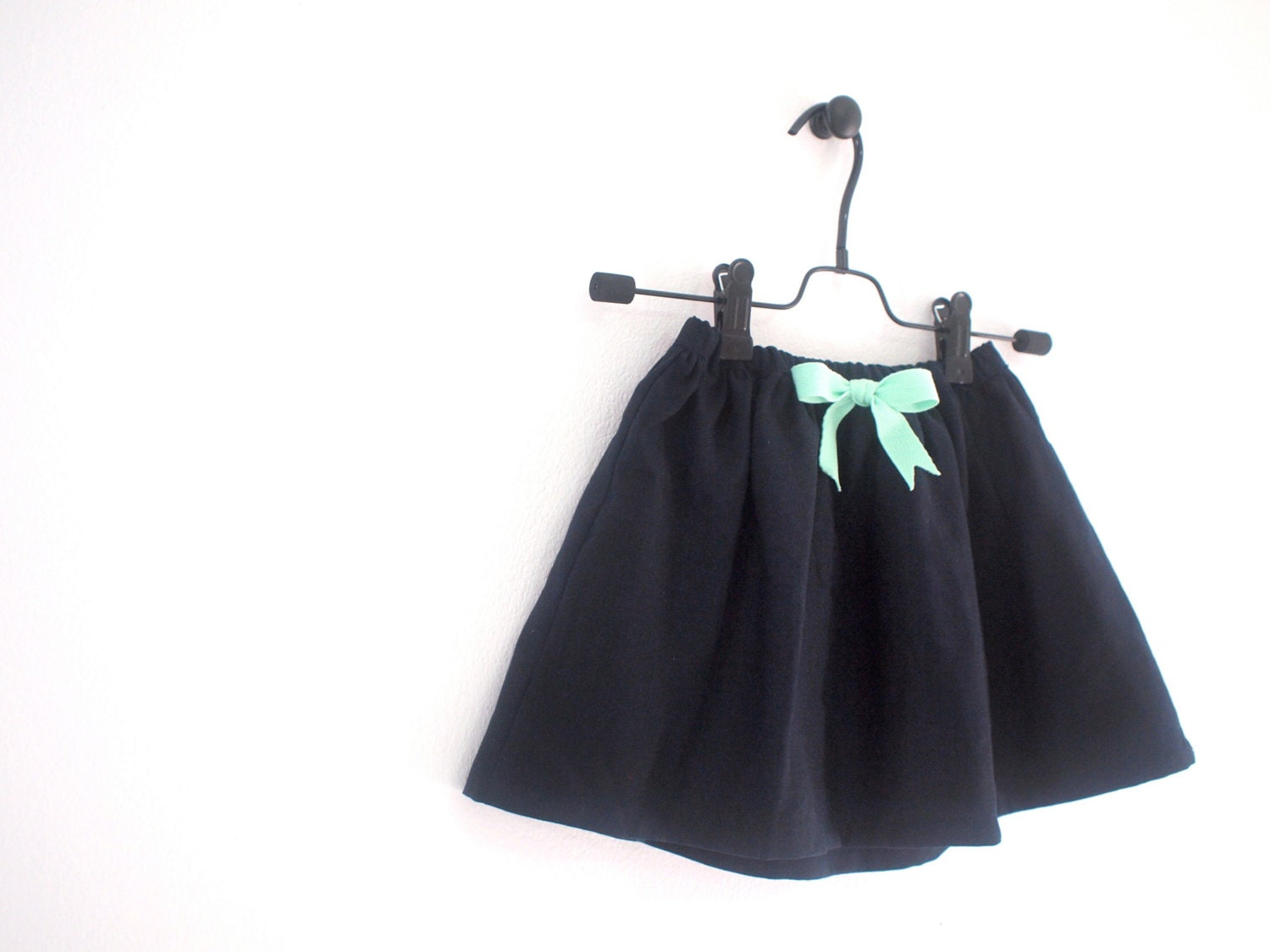 navy blue linen skirt with elasticated by maydaykidswear