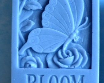 Butterfly Soap Mold Flower Soap Mold Bloom Soap Mold Silicone Soap Mold Candle Mold Handmade Soap Mold