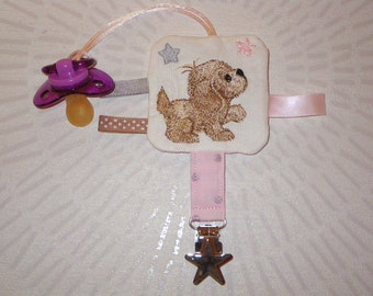 Pacifier embroidered small dog - customizable