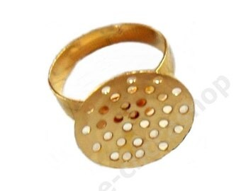 based ring convex gold 8 pieces