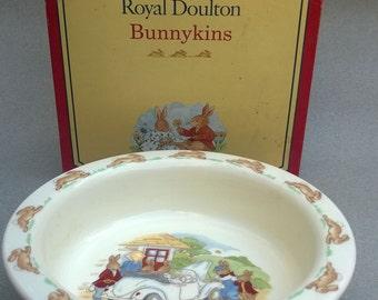 Pair Royal Doulton Bunnykins Baby Plates