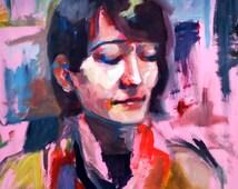 """Original Oil Painting """"Mariah"""""""