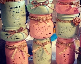Shabby Chic Mason Jar Candles
