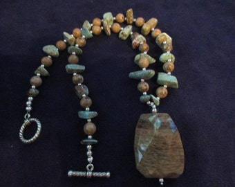 Jasper and Turquoise necklace set