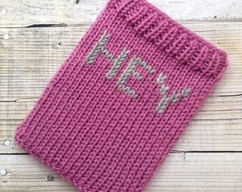 HEY pink kindle cosy sleeve sock