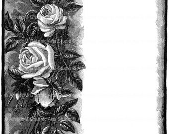 "INSTANT DOWNLOAD - Restored Romantic Poetry Border from the 1894 publication ""Gems from the Poets"" 020"