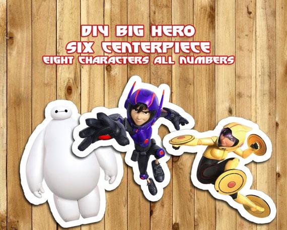 DIY Big Hero 6 Centerpiece - 8 Characters, All Numbers - Big Hero 6 Birthday Decoration