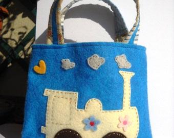 Little girl felt bag