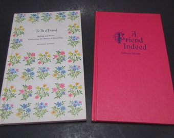 Poetry Books, Hallmark Editions Poem Books, A Friend Indeed and To Be a Friend, 60s Hallmark Books