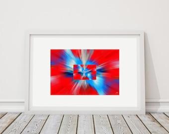 Colors Horiz 3 - art print limited edition - 24 cm x 36 cm - frame - photographic Composition - Interior Decoration