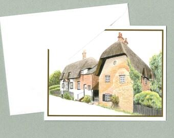 English Village Greeting Card