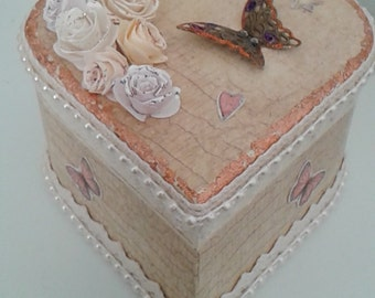 Hand Decorated Wooden Trinket Box