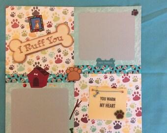 "Premade ""Dog"" scrapbook page"