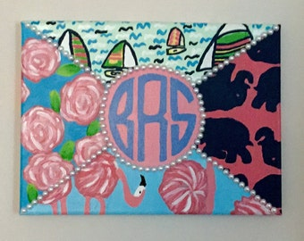 Lilly Pulitzer Monogram Canvas