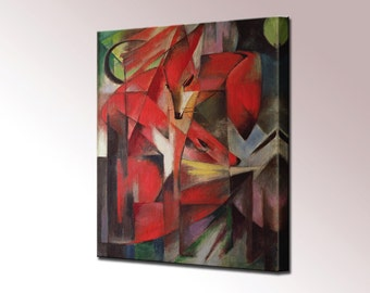 The Fox Franz Marc Canvas Wall Art Print Picture Ready To Hang Home Decor