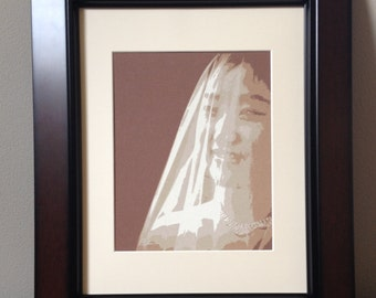 Commissioned Silk Screened Portrait