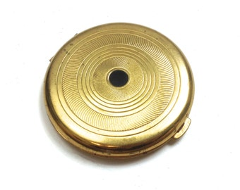 Vintage Compact 40s Round Gold Compact | Coty Vanity Case Powder Case