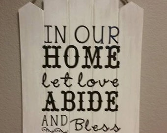 11x20 Wood Fence Sign
