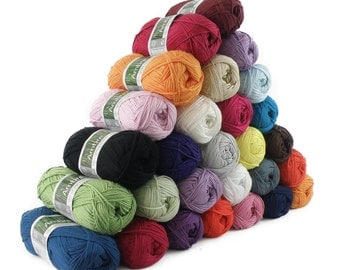Knitting yarn AMBRE, 70% bamboo, 50 g, 27 colors available