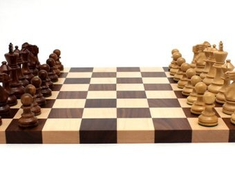 Large Chess Board & Set with Pieces