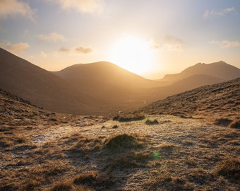 Irish Landscape Print Mourne Mountains, Northern Ireland Landscape photograph