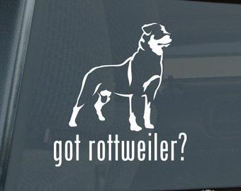 Got Rottweiler Die Cut Vinyl Sticker - Rotty Rott Rottie - 297