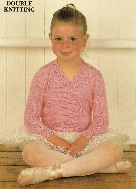 Knitting Pattern Childs Ballet Cardigan : Knitting Pattern Ballet Cardigan Top DK 56-76 cm PDF Instant Download from Sw...