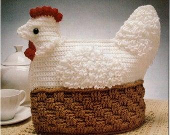 Chicken Tea Cosy Knitting Pattern Free : Chicken pot holder Etsy