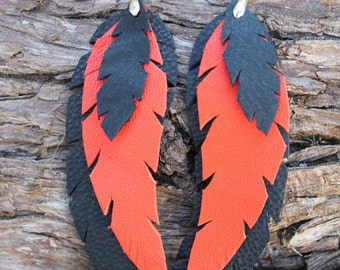 Leather earring.