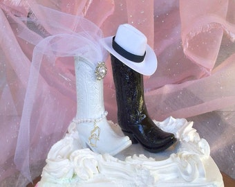 Rustic Wedding ~ Cake Topper ~ Cowboy Boot ~ Country ~ Wedding Cake ~ Western ~ Wedding ~ Barn ~ Cowgirl ~ Topper ~ Decorations