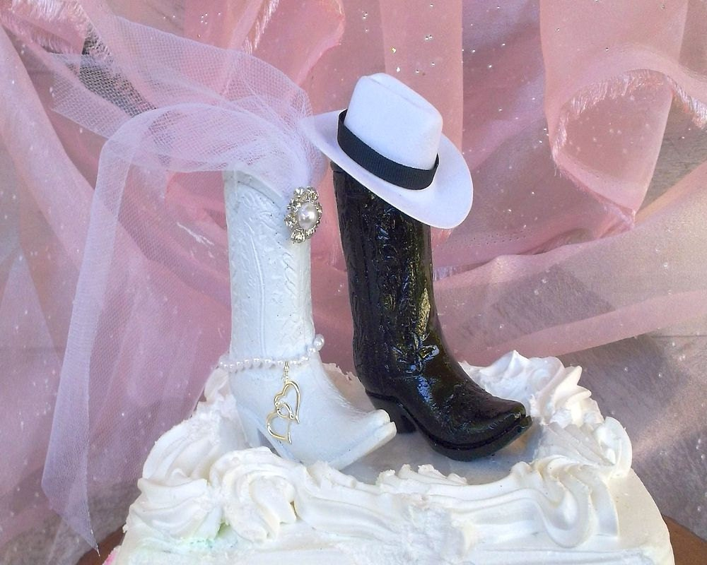 boot wedding cake topper rustic wedding cake topper cowboy boot country wedding 12096