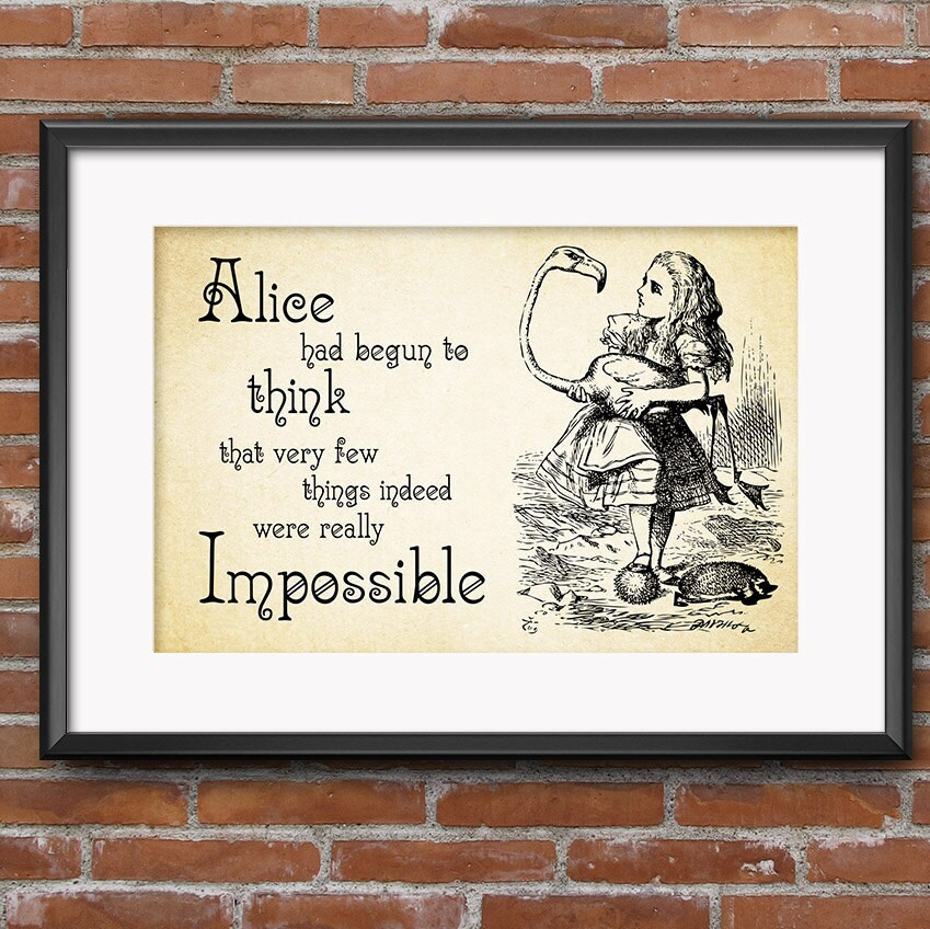 Alice In Wonderland Sayings: Alice In Wonderland Quotes Think Very Few Things Indeed Were
