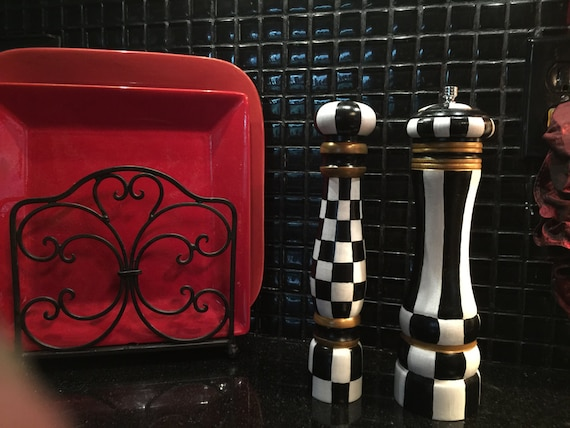 Large salt shaker pepper mill Funky salt and pepper grinders