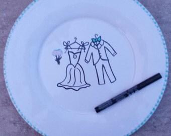 Wedding Guest Book Plate