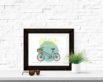 Let's Ride 10x8 Printable