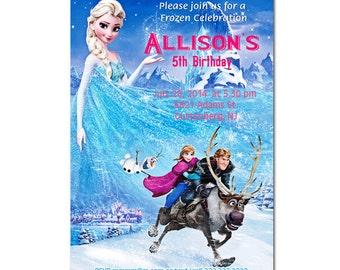 Disney Frozen Birthday Party Invitations - printable