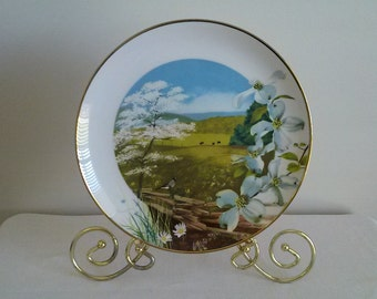 Royal Windsor Collectible Plate//Flowering Dogwood Wildflowers of the South//Collectible Plate//Wall Art