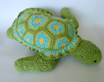 Crochet Plush Turtle (Choose Your Colors)