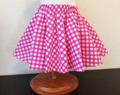 Polka Dot Circle Skirt / Pink and White / Little Girl / 3 T