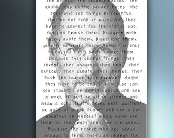 Steve Jobs Here's The Crazy Ones - Digital posters 70 x100