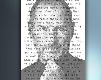 Steve Jobs Hears The Crazy Ones-Digital posters 70 x100