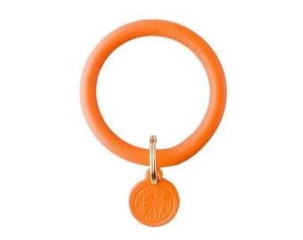 Signature Key Ring--Tangerine