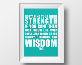 Hilary Duff Inner Strength Wall Art Instant Download Typography Print