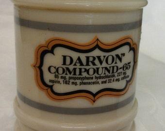 Carbon Compound-65 Custard Glass Jar