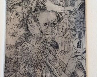 Van Gogh's Cauchemer ll- Engraving on Arches paper-unframed